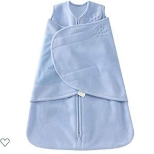 HALO SleepSack Fleece Swaddle, Baby Blue (Size S)